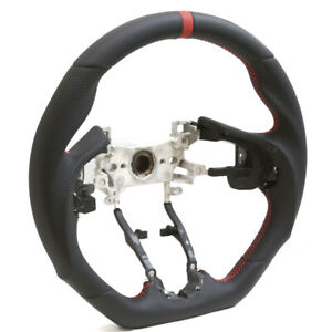 15 16 17 18 19 Honda Fit Black Leather D Shape Steering Wheel W Red Stripe