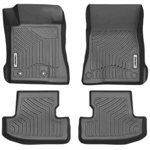 Oedro Floor Mats Liners Fit For 2015 2019 Ford Mustang Black Tpe F