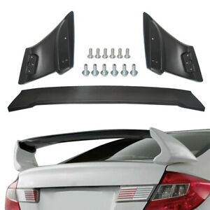 Black Primed Trunk Wing Spoiler For 2012 2015 Honda Civic 4dr Sedan Mugen Style