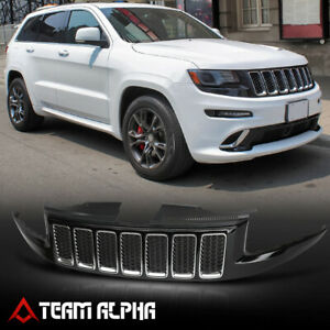 Fits 2014 2016 Grand Cherokee led Drl Hex Honeycomb Mesh black Srt Bumper Grille