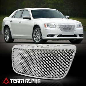 Fits 2011 2014 Chrysler 300 300c 3d Wave Mesh glossy Chrome Bumper Grille Grill