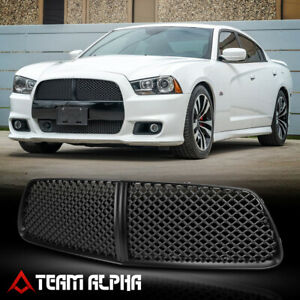 Fits 2011 2014 Dodge Charger 3d Wave Mesh glossy Black Bumper Grille Vent Grill