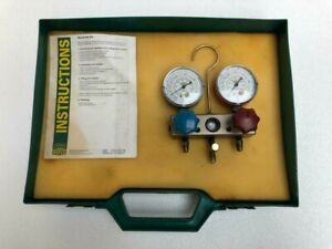 Refco Refrigeration Dual Gauge Set With Carry Case free Shipping
