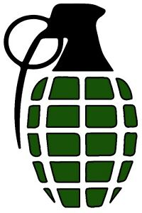 Grenade Vinyl Decal Bumper Sticker Car Decal Sticker