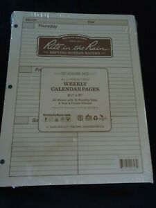 Rite In The Rain Tan Weekly Calender Pages 8 1 2 X 11 Planner 3ring All Weather
