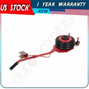 Triple Bag Air Jack 6600lbs Quick Lift 3ton Heavy Duty Jacking Red High Quality