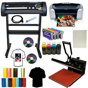 15x15 Heat Press 28 Laser Metal Vinyl Cutter Plotter Printer Refil Kit T shirts