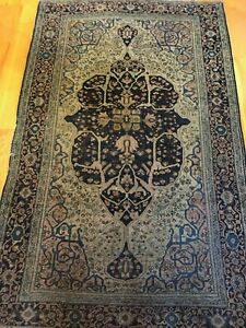 Distressed Museum Piece High Quality Antique Rug Unique Design 4x6 100 Wool