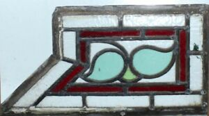 Pretty English Art Deco Leaded Stained Glass Fragment
