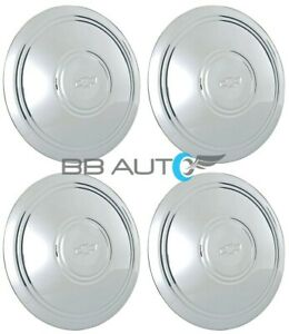 Chevy Corvette Chevelle Impala 14 15 Chrome Police Rally Wheel Center Caps Set