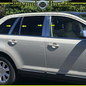 2007 09 10 11 12 13 2014 Ford Edge Lincoln Mkx Chrome Pillar Posts 8pc Stainless