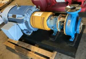 Goulds 3196 I frame Centrifugal Pump 3 X 4 10 Stainless Steel W 100hp Motor