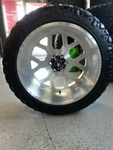A Set Of Four American Force Wheels With 33x12 50 Nitto Terra Grappler Tires