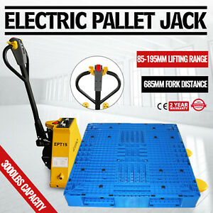 1 5t 3300lbs Electric Pallet Jack Dock Lithium Battery Heavy Load