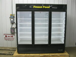 True Gdm 72f ld Three Glass Door 3 Dr Commercial Reach In Freezer Merchandiser