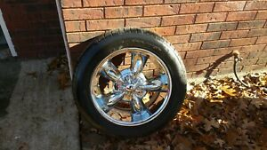 18 Inch Kmc Chrome Rims With Tires Set Of 4