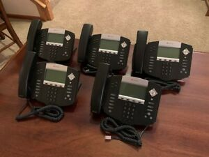 Polycom Soundpoint Ip550 Voip Display Phone 2201 12550 001 lot Of 5 used