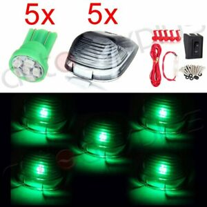 5x Smoke Lens Cab Marker Led Light 12v Clearance Lamps For Ford Truck wiring