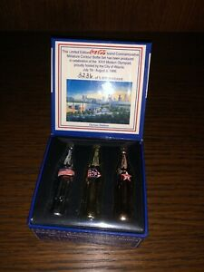 Coca Cola Bottles Mini Atlanta 1996 Miniature Contour Bottles Limited Edition