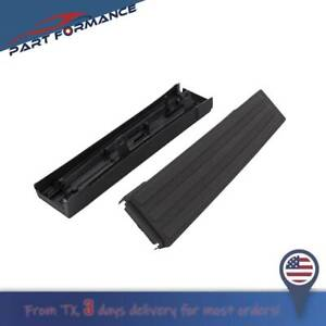 For 2009 14 Ford F 150 Black Flex Step Side Tailgate Molding Covers Right Left