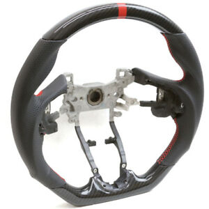 Handkraftd Hydro Carbon D Shape Steering Wheel W Red Stripe For 15 19 Honda Fit