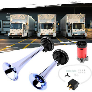 178db Air Horn Dual Trumpet Super Loud Compressor For Car Truck Train Boat 12v