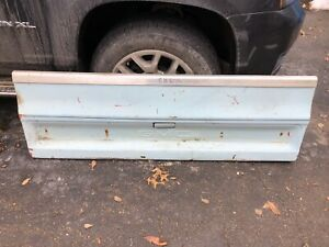 Vtg Metal Tailgate Truck Bench Gmc 1970s 1980s Original Pickup Steel Chevy Art