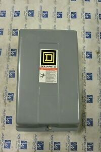 Square D 8903l080 8 Pole Enclosed Lighting Contactor 120v Coil 9998l44