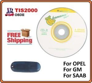 Tis 2000 For Opelgmsaab Tech2 Tis2000 Cd And Usb Key New Free Shipping