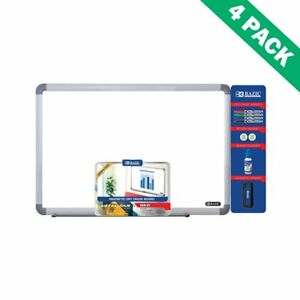 Dry Erase Boards White Wall Mount 24 X 36 Magnetic Dry Erase Board Pack Set Of 4