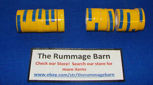 15 Yellow Rolls 1 2 Embossing Tape For Label Maker s For Dymo Rotex Labeling