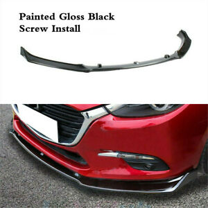 Front Lower Spoiler Underbody Bumper Lip Splitter For Mazda 3 Axela 2014 2018