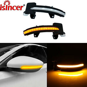 Side Mirror Led Dynamic Turn Signal Light For Honda Accord 2018 2019 Amber Bulbs