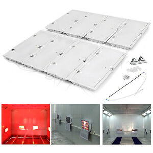 8sets 3kw Spray Baking Booth Infrared Paint Curing Lamps Heaters Heating Light