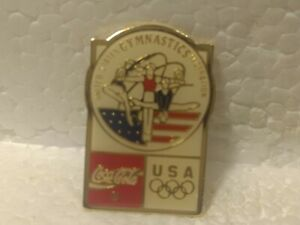 Coca Cola Olympics USA Gymnastics Federation Collectible Pin pin3554