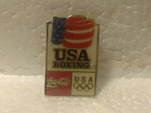 Coca Cola Olympics USA Boxing Emblem Collectible Pin pin3560