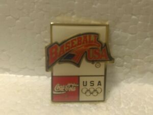 Coca Cola Olympics Baseball USA Emblem Collectible Pin pin3562