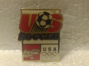 Coca Cola Olympics USA Soccer Emblem Collectible Pin pin3564