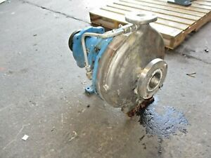 Goulds Summit Mto 1 1 2 X 3 13 Stainless Pump 102920j Used