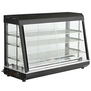 48 Countertop Self Service Heated Food Display Warmer With Doors 110v 1500w