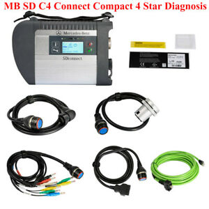 Mb Sd C4 Connect Compact 4 Star Diagnosis Wifi For Cars And Trucks Multilingual