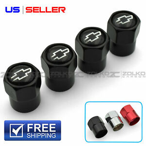 Valve Stem Caps Wheel Tire For Chevrolet Chevy 4pc 3 Color Option Us Seller