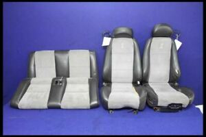 2003 2004 Ford Mustang Cobra Svt Luxury Suede Leather Seat Set Oem
