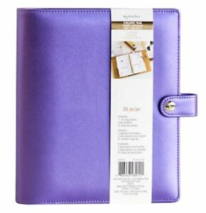 New Recollections Creative Year A5 Planner Binder Purple 6 Ring Michaels