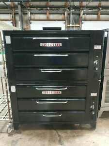 Blodgett 981 Double Stack Commercial 4 Deck Baking Gas Oven