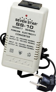 Sevenstar Ss 10 100 Watt Step Up down Transformer Voltage Converter