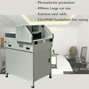 490mm 19 3 Programmable Paper Guillotine Cutter Stack Cutting Machine Lcd Us