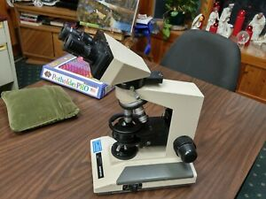 Olympus Bh 2 Microscope 4 Objectives Guarentee