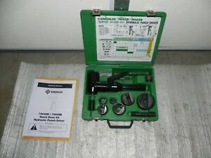 Greenlee 7906sb Quick Draw 90 Hydraulic Punch Driver Set Kit 1 2 To 2 W Case