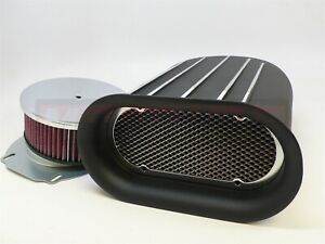 Washable Black Aluminum Mini Hilborn Fin Air Hood Scoop 4 Bbl Single Blower